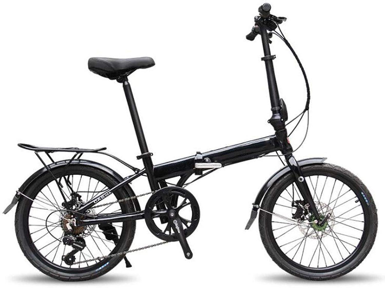 ventas calientes GHGJU Bicicleta de aleación aleación aleación de Aluminio de 20 Pulgadas Bicicleta Plegable Velocidad Bicicleta Bicicleta Bicicleta de Montaña Adecuada for Deportes y Ciclismo Todos los días  Tienda 2018