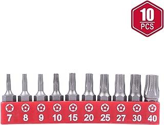 Protorq TORX PLUS IPR, Torx Plus 5-Point Tamper-Proof Security Bits(IPR 7-IPR 40), 25mm, 10 -Pieces, High Grade S2 Steel