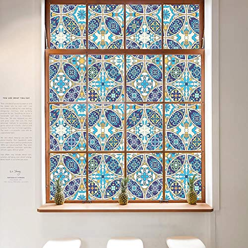 Pallima Fensterfolie Glasaufkleber Glas Film Fensteraufkleber Ausgangsdekor Fensterdekoration Buntglas Static 45X200cm