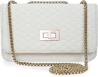 UrBaazar Women's Faux Leather Sling Bag (Cream)-PID36232
