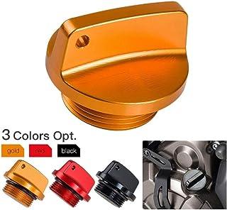 HELEISH Bouchon de remplissage dhuile en aluminium CNC pour Honda//Ducati//Yamaha//Kawasaki//Ninja//Triumph Accessoires moto Color : Black