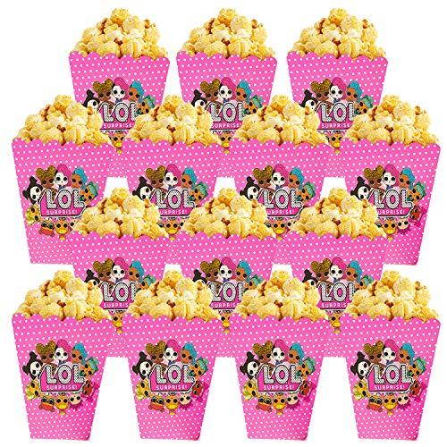 Qemsele Popcorntüten Popcornboxen, 30 Stück Karton Popcorn Box Snack Tüte Partytüten für Leckereien und Süßigkeiten - für Geburtstagsfeiern, Filmabend, Karneval, Hochzeiten, Kindergeburtstag (LOL)