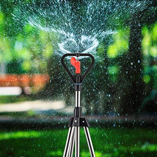 Pbzydu 【𝐏𝐫𝐨𝐦𝐨𝐭𝐢𝐨𝐧 𝐝𝐞 𝐏â𝐪𝐮𝐞𝐬】 Rasensprenger Garten Sprinkler 360 Grad Verstellbarer Stativ-Wassersprenger Rotierende Sprinkleranlage zur Bewässerung von Rasen, Pflanzen, Blumen