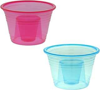 50-assorted Neon Colors Disposable Plastic Party Bomber Power Bomber Jager Blaster Bomb Glasses Shot Glass Red & Blue Shot Cups