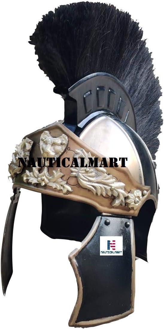 Nautical-Mart Gladiator General Maximus Helmet Plume with Regular store Long Beach Mall Brown