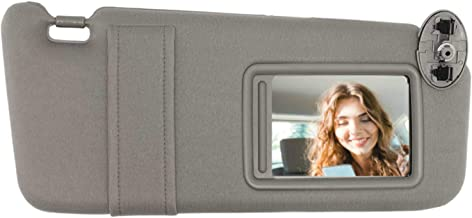 SAILEAD Right Passenger Side Sun Visor for 2007 2008 2009 2010 2011 Toyota Camry and Camry Hybrid Without Sunroof and Light (Gray, Right Side)
