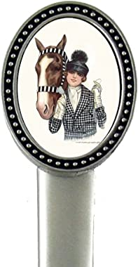 Puff Hat Glamour?Lady and Horse?Pewter Letter Opener IMC-Retail