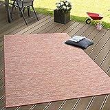 Paco Home In- & Outdoor Flachgewebe Teppich Terrassen Teppiche Farbverlauf In Terracotta, Grösse:140x200 cm