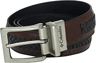 Columbia Men's Reversible Leather Belt - Casual for Men's Jeans With Double Sided Strap