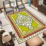NF Alfombra vintage persa para sala de estar, dormitorio, antideslizante, estilo étnico, bohemio, marroquí, 60 cm x 90 cm