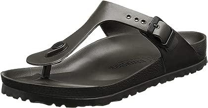 Birkenstock Essentials Unisex Gizeh EVA Sandals Metallic Anthracite 39 N EU (US Women's 8-8.5)