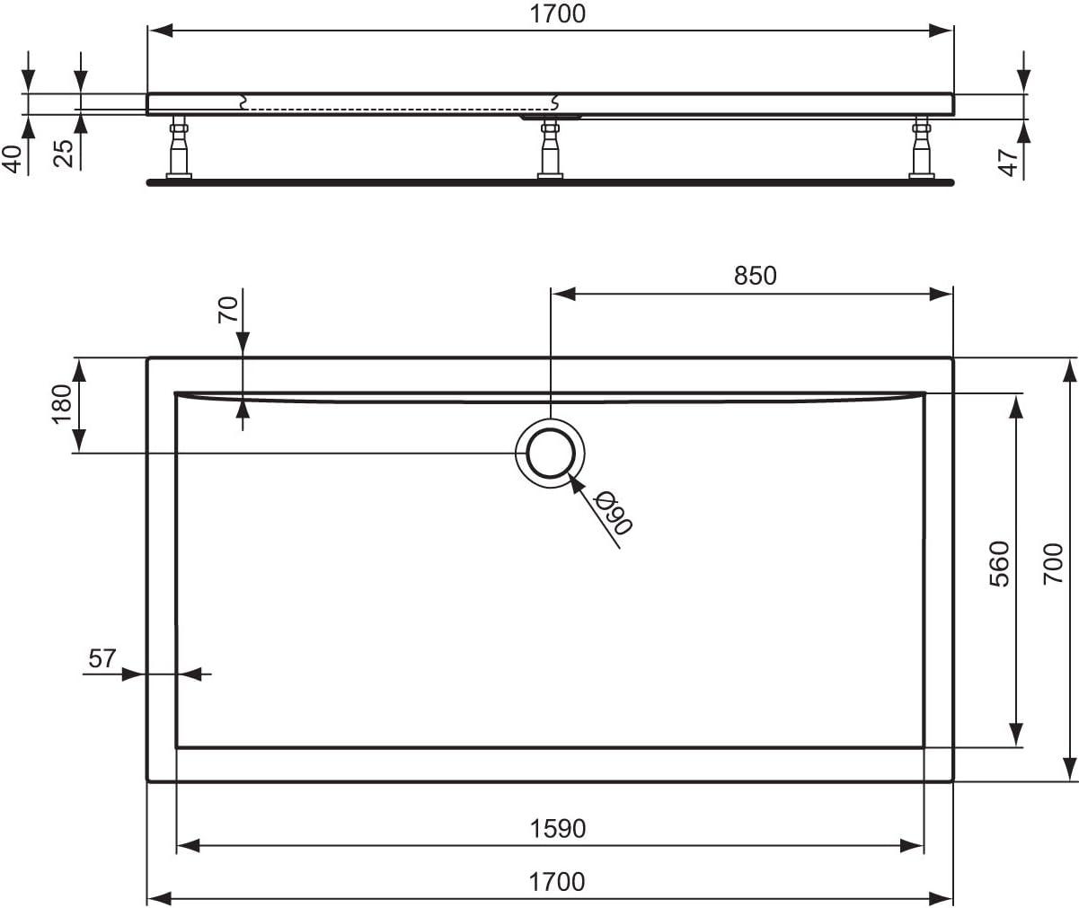 Ideal Standard K193501 Ultraflat Piatto Doccia Acrilico Bianco Amazon It Fai Da Te