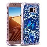 FroFine Coque Samsung S7 3D Etui Housses et Étuis Galaxy S7 Téléphones Silicone Glitter Liquid...