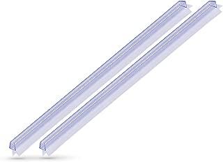 KANWA 100cm Premium Ducha Junta para la cabina de ducha 6mm/7mm/8mm grosor del cristal en la puerta de la ducha, barra de ducha para Insonorizar como para juntas 1metro con dos labios