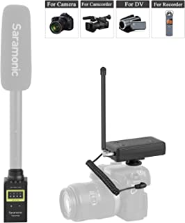 VHF Wireless Microphone Interview Handheld, Saramonic Portable Transmitter & Receiver System for Using XLR Microphone with Canon Nikon Sony Panasonic D/SLR Camera for News Gathering Reporting ENG