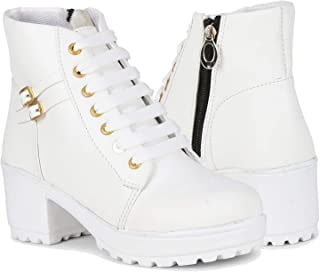 AROOM Synthetic Leather Casual Stylish Boots Shoes for Women and Girls