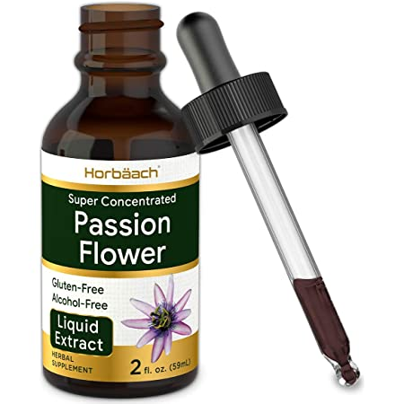 Passion Flower Tincture | 2 fl oz | Alcohol Free Liquid Extract Drops | Super Concentrated Supplement | Vegetarian, Non-GMO, Gluten Free | by Horbaach