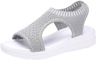 Ears Damenmode Römische Schuhe Vintage Stiefeletten Lässige Sneakers Plus Größe Flache Fußschuhe Strand Sandalen Tuch Schuhe Open Toe Knöchelriemen Sandalen Casual römische Schuhe