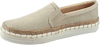 FZ-Phenix-s Women's Fashion Espadrilles Slip On Flat Heel Round Toe Sneaker Shoes