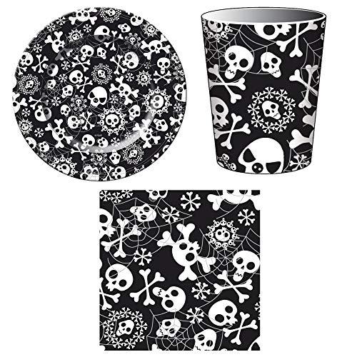 Unbekannt Juego de 36 piezas para fiesta de Halloween con platos, vasos...