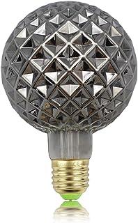 TIANFAN Bombillas vintage con filamento Edison de 4 W, cristal de humo de 220/240 V, E27, bombillas decorativas de cristal (G95 cristal)