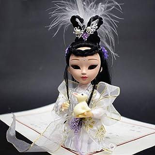 ドールメイキング 手芸用品 子供の人形 京劇の人形 中国の唐人形 人形の置物 Q版の絹人の贈り物 京劇の隈取りの人物がポーズをとる (嫦娥)