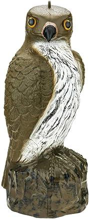 PrimeMatik - Vogelscheuche Falcon Figur mit Reflektoraugen 40cm