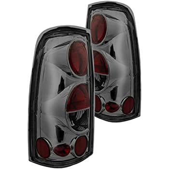 Spec-D Tuning LT-SIV03BB-TM Chevy Silverado 1500 2500 3500 Glossy Black Smoked Lens Altezza Tail Lights