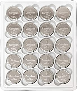 20 Pack Camelion CR2477 3 Volt Lithium Coin Button Cell Battery in Bulk Plastic Storage Tray