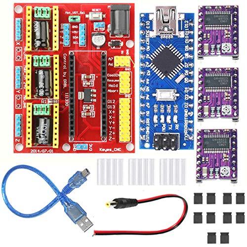 Kit scheda di espansione incisione stampante 3D Youmile CNC shield V4 + scheda Nano 3.0 + driver Drv8825 con cavo USB per kit stampante 3D Arduino