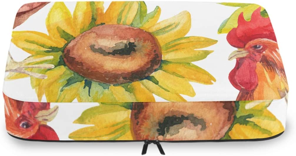 Clothes Packing Cubes Travel Max 83% OFF Watercolor Rooster Hen Selling and selling Sunflowers S