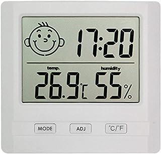 XYXZ Mini Termómetro Higrómetro Digital Interior LCD Reloj Electrónico Multifuncional Herramienta De Medición Automática p...