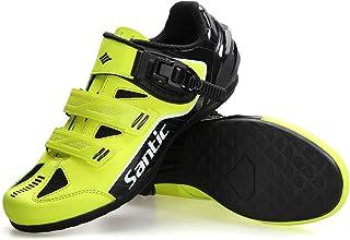 Santic Cycling Shoes Men Spin Unlocked Bike Bicycle Road Biking Lock Shoes MTB Cycling...