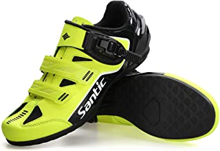 Santic Cycling Shoes Men Spin Unlocked Bike Bicycle Road Biking Lock Shoes MTB Cycling...