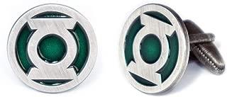 SharedImagination Green Lantern Cufflinks, Justice League Tie Clip, Batman vs Superman Tie Tack Jewelry, Green Lantern Logo Cuff Links Link Wedding Party Gift, Avengers Groomsmen Gifts