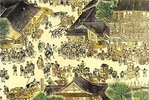FDDPT Puzzle 1000 Piezas Pintura Cuadro Qingming Shanghe