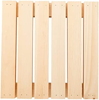 "Pallet Serving Tray, Rustic Pallet Serving Display - 11"" x 11"" - Wood - 1ct Box - Restaurantware"