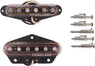 Alnicov Alnico V Guitar Bridge Neck Set Pastilla Magnética Para Telecaster