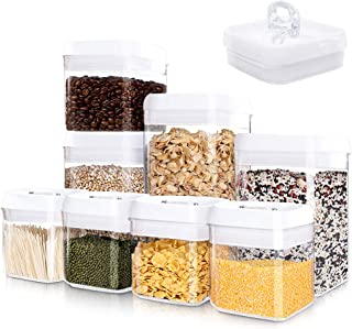 Kitsure Airtight Food Storage Container Set - 8 PC Set - Pantry Organization and Storage, Kitchen Canisters with Lids, Lea...
