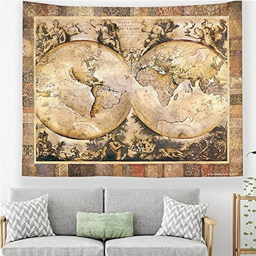 Mapa del mundo tapiz colgante de pared artista decoración del hogar hippie toalla de playa manta de fondo tela manta tapiz A6 130x150cm
