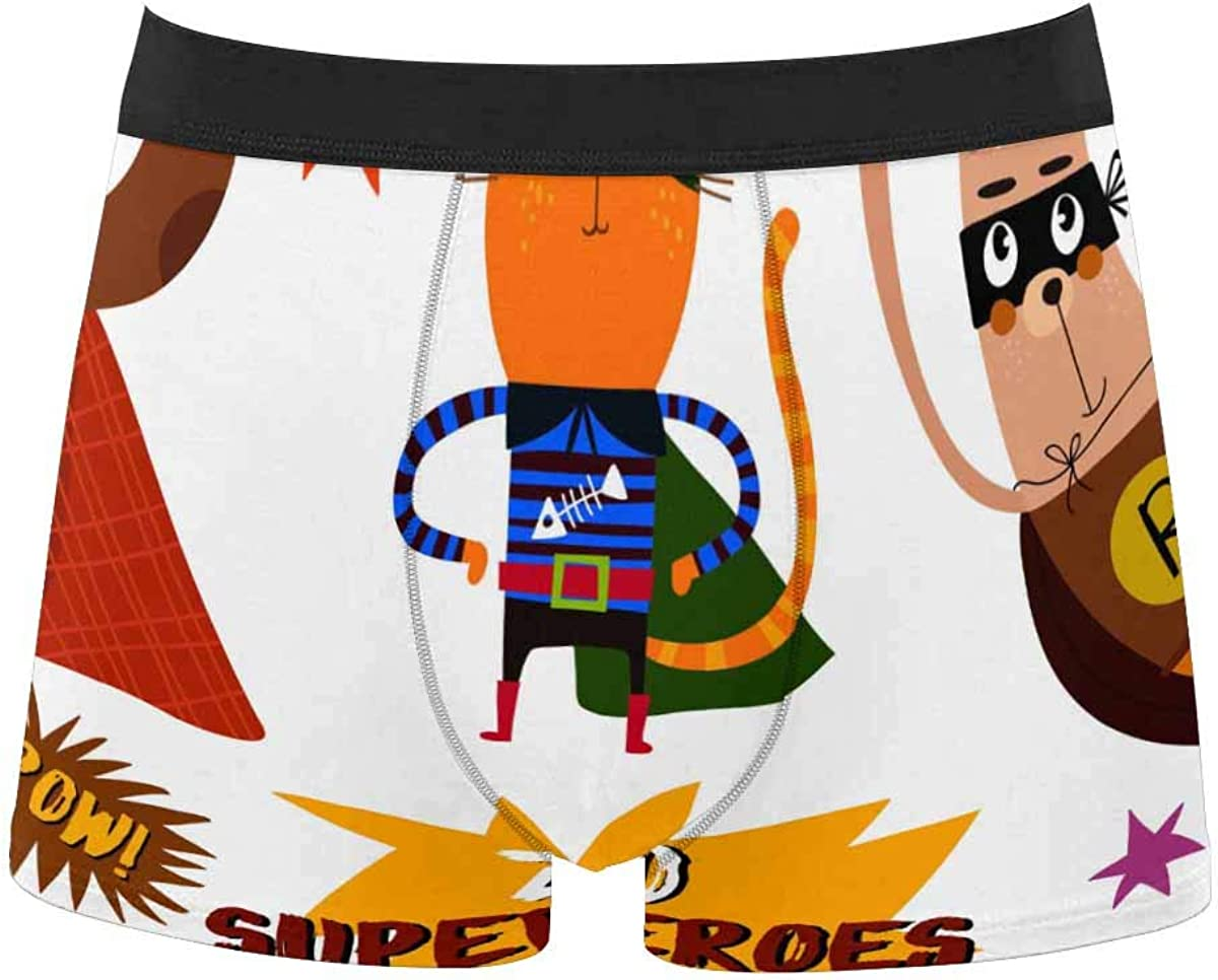 InterestPrint Youth Boy's All Over Print Comfort Boxer Briefs Underwear Cartoon Style with Comic Book XXL