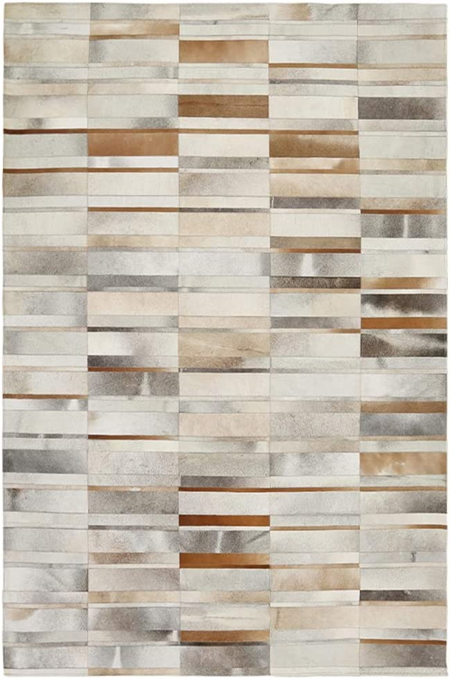Area Rug Handmade Imported Leather Fixed price for sale Geome Popular brand in the world Stitching Carpet Nordic