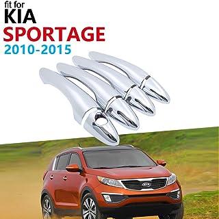 AEVEILS 4 Pezzi Piastra Protettiva Battitacco per Auto per KIA Sportage Protezioni per davanzali per Portiere in Fibra di Carbonio Accessori