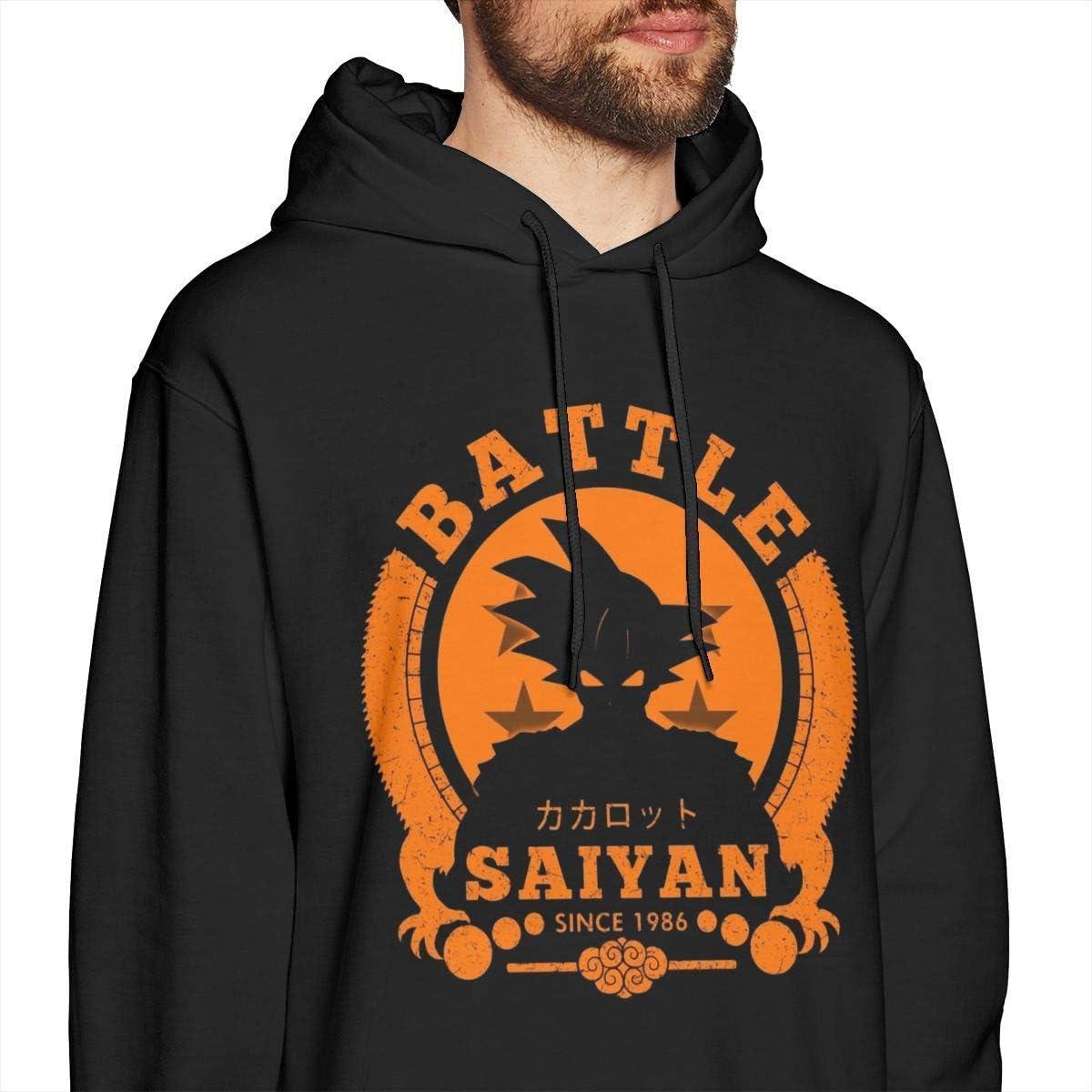 NZ Sweat-shirt à capuche avec manches longues et ras du cou Dragon Ball Z Battle Vegeta Noir Xx-large|style2