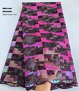 Suisse africaine Dentelle Tissu Voile Africain Français Dentelle Tulle tissu Nigeria Ghana vêtements couture avec Paillett...