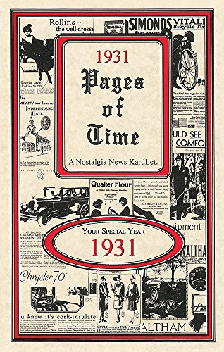1931 Pages of Time 24-page Greeting Card/Booklet
