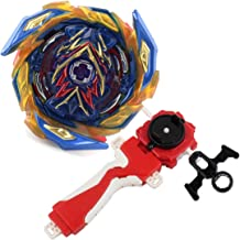 Bay Burst Battling Top Blade Evolution Turbo God Bey Red Lr Launcher Grip Starter Set B-163 Booster Super King Brave Valkyrie.Ev'2A Attack Gyro Bey Battle Gaming Top Novelty Spinning Toy Gift for Boys