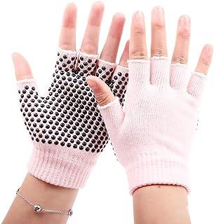 Wenquan - 3 pares de 5 dedos de algodón calcetines de yoga transpirables absorbentes del sudor, 5 dedos de algodón para mujer, G001-hellrosa Schwarze Flecken, talla única