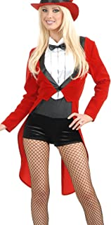 Adult's Womens Sexy Circus Sweetie Red Tuxedo Ringmaster Costume