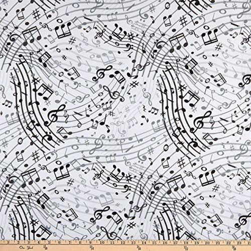 Lunarable Back to School Fabric by The Yard, School for Math and Geometry with Science Formulas Chalk Board Style Image, Decorative Fabric for Upholstery and Home Accents, 1 Yard, White Grey